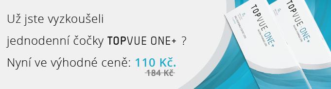 Už jste vyzkoušeli jednodenní čočky TopVue One+? Nyní ve výhodné ceně 110 Kč.