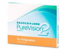 Torické (astigmatické) kontaktní čočky - PureVision 2 for Astigmatism (3čočky)