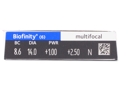 Biofinity Multifocal (6čoček) -