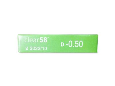 Clear 58 (6čoček) -