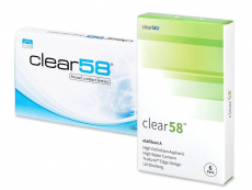 Měsíční kontaktní čočky - Clear 58 (6čoček)
