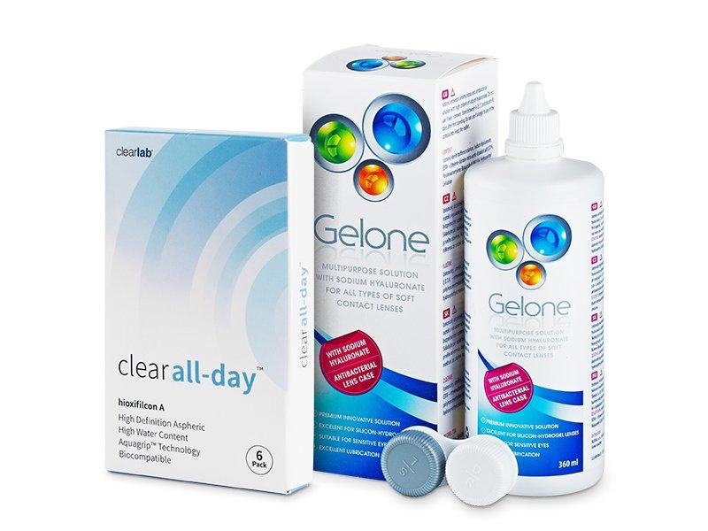 Clear All-Day (6čoček) +roztokGelone360ml - Výhodný balíček