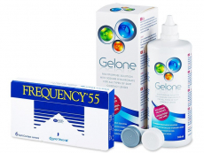 Frequency 55 (6 čoček) + roztok Gelone 360 ml