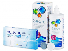 Acuvue Advance PLUS (6 čoček) + roztok Gelone 360 ml