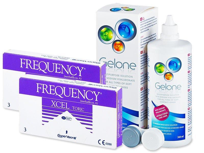 Frequency Xcel Toric (2x3 čočky) +roztokGelone360ml - Výhodný balíček