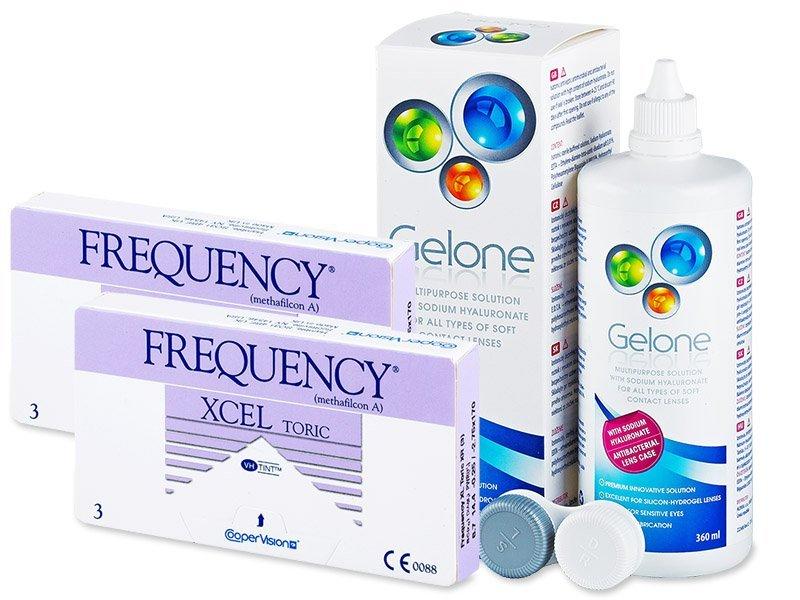 Frequency Xcel Toric XR (2x3 čočky) +roztokGelone360ml - Výhodný balíček