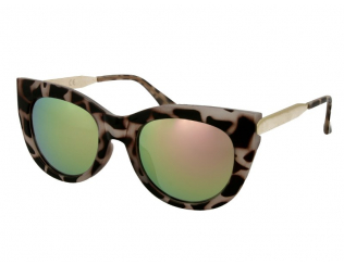 Sluneční brýle Cat Eye - Dámské sluneční brýle Alensa Cat Eye Havana Pink Mirror