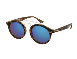 Sluneční brýle Panthos - Dětské sluneční brýle Alensa Panto Havana Blue Mirror