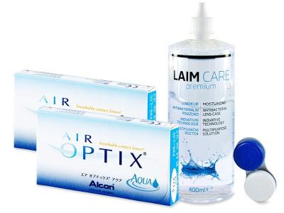 Air Optix Aqua  (2x3 čočky) +roztokLaim Care400ml - Předchozí design