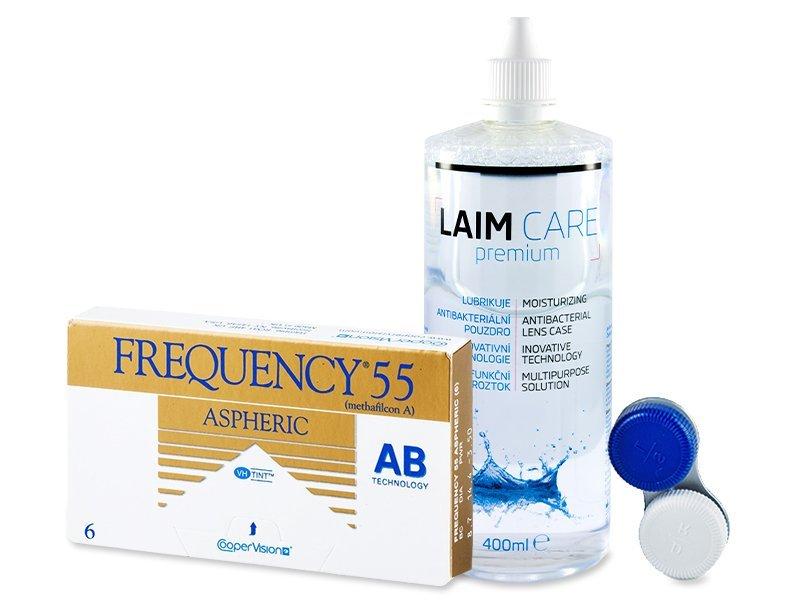Frequency 55 Aspheric (6čoček) +roztokLaim Care400ml - Výhodný balíček