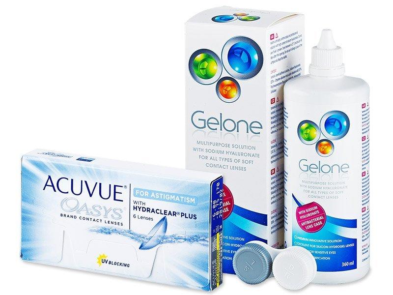 Acuvue Oasys for Astigmatism (6čoček) +roztokGelone360ml - Výhodný balíček