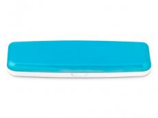 Kazety se zrcátkem - Pevné pouzdro na jednodenní čočky - modré