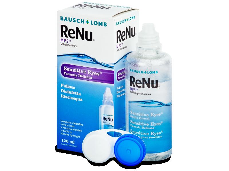Roztok ReNu MPS Sensitive Eyes 120 ml  - Čistící roztok