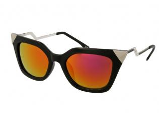 Sluneční brýle Cat Eye - Dámské sluneční brýle Alensa Cat Eye Shiny Black Mirror
