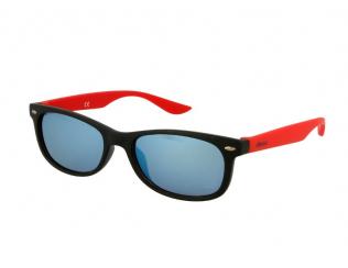 Sluneční brýle Wayfarer - Dětské sluneční brýle Alensa Sport Black Red Mirror