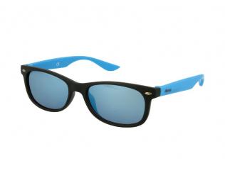 Sluneční brýle Wayfarer - Dětské sluneční brýle Alensa Sport Black Blue Mirror