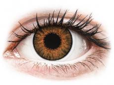 Barevné kontaktní čočky - Air Optix Colors - Honey - dioptrické (2čočky)