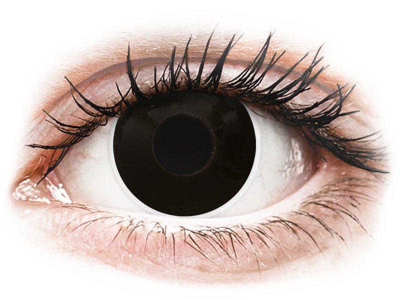 ColourVUE Crazy Lens - nedioptrické (2 čočky) BlackOut