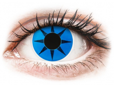 Crazy kontaktní čočky - nedioptrické - ColourVUE Crazy Lens - Blue Star - nedioptrické (2čočky)