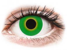 Kontaktní čočky Maxvue Vision - ColourVUE Crazy Lens - Hulk Green - nedioptrické (2čočky)