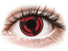 Červené kontaktní čočky - nedioptrické - ColourVUE Crazy Lens - Kakashi - nedioptrické (2čočky)