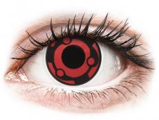 Červené kontaktní čočky - nedioptrické - ColourVUE Crazy Lens - Madara - nedioptrické (2čočky)