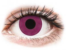 Fialové kontaktní čočky - nedioptrické - ColourVUE Crazy Lens - Purple - nedioptrické (2čočky)