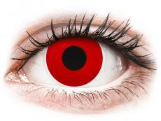 Červené kontaktní čočky - nedioptrické - ColourVUE Crazy Lens - Red Devil - nedioptrické (2čočky)