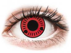 Červené kontaktní čočky - nedioptrické - ColourVUE Crazy Lens - Sasuke - nedioptrické (2čočky)