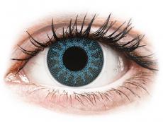 Modré kontaktní čočky - nedioptrické - ColourVUE Crazy Lens - Solar Blue - nedioptrické (2čočky)