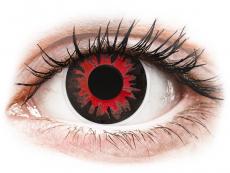 Červené kontaktní čočky - nedioptrické - ColourVUE Crazy Lens - Volturi - nedioptrické (2čočky)