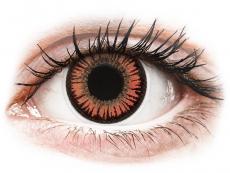 Červené kontaktní čočky - nedioptrické - ColourVUE Crazy Lens - Vampire - nedioptrické (2čočky)