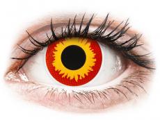 Červené kontaktní čočky - nedioptrické - ColourVUE Crazy Lens - Wildfire - nedioptrické (2čočky)