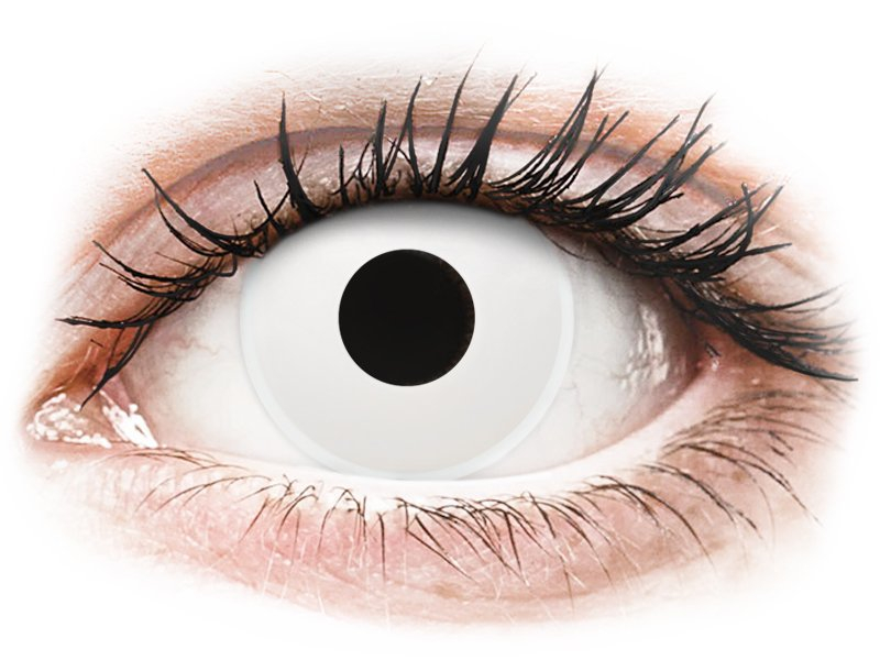 ColourVUE Crazy Lens - nedioptrické (2 čočky) WhiteOut