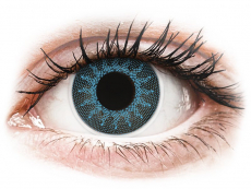 Kontaktní čočky Maxvue Vision - ColourVUE Crazy Lens - Solar Blue - dioptrické (2čočky)