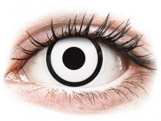 Barevné kontaktní čočky - dioptrické - ColourVUE Crazy Lens - White Zombie - dioptrické (2čočky)