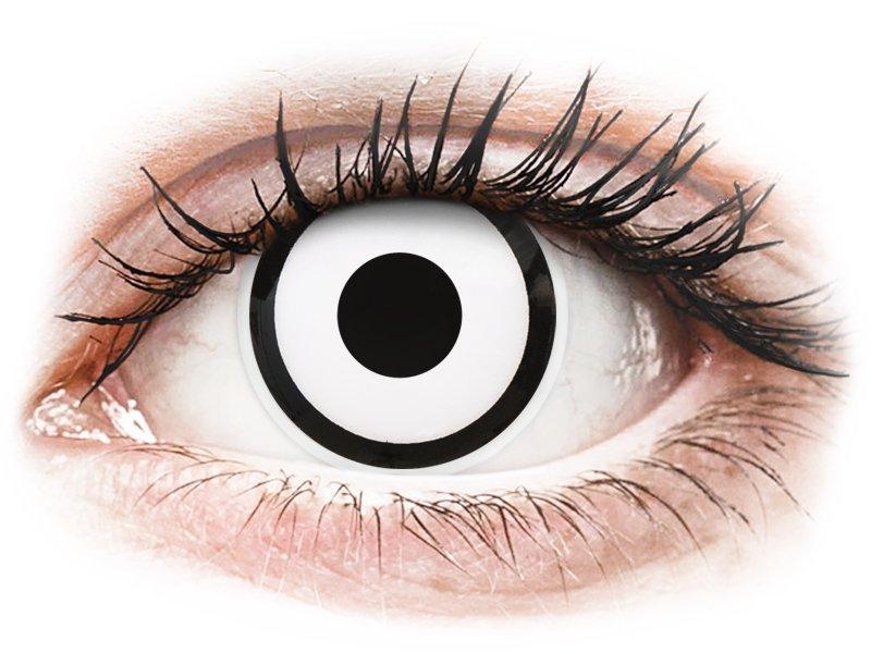 ColourVUE Crazy Lens - dioptrické (2 čočky) White Zombie