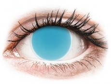 Crazy kontaktní čočky - nedioptrické - ColourVUE Crazy Glow Electric Blue - nedioptrické (2čočky)