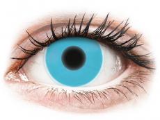 Crazy kontaktní čočky - nedioptrické - ColourVUE Crazy Glow Blue - nedioptrické (2čočky)