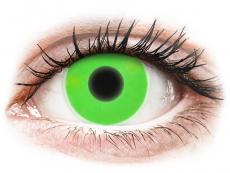 Kontaktní čočky Crazy GLOW - ColourVUE Crazy Glow Green - nedioptrické (2čočky)