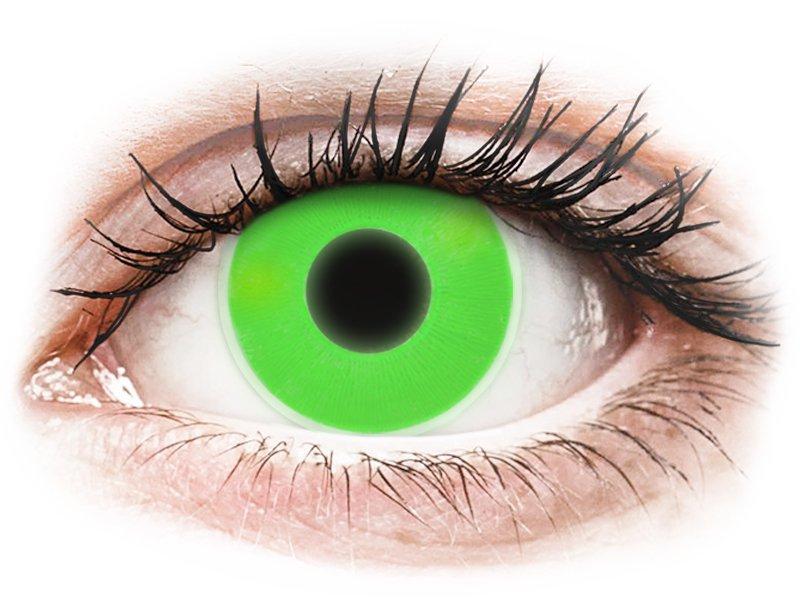 ColourVUE Crazy Glow - nedioptrické (2 čočky) Green