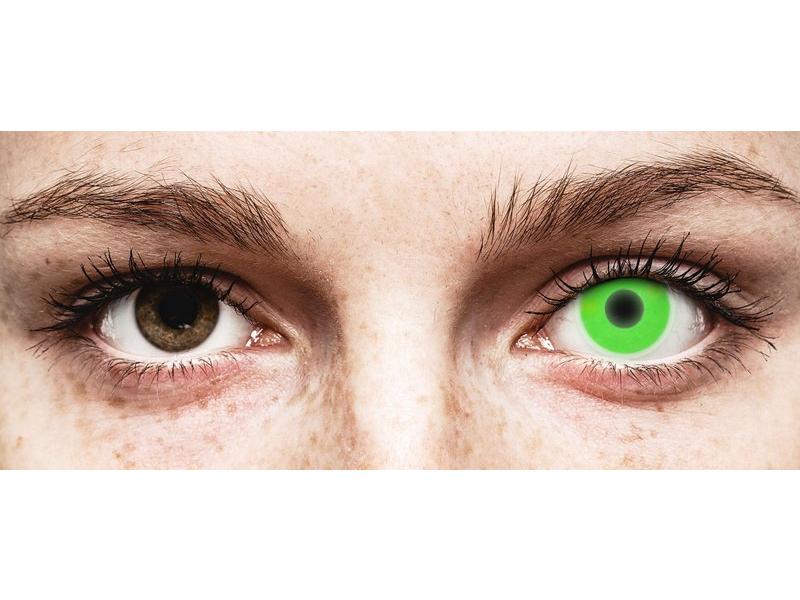 ColourVUE Crazy Glow Green - nedioptrické (2čočky)