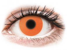 Crazy kontaktní čočky - nedioptrické - ColourVUE Crazy Glow Orange - nedioptrické (2čočky)