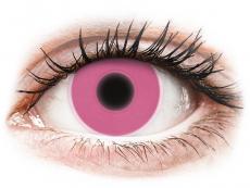 Barevné kontaktní čočky - ColourVUE Crazy Glow Pink - nedioptrické (2čočky)