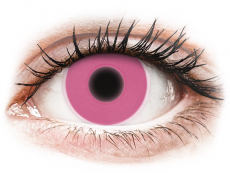 Crazy kontaktní čočky - nedioptrické - ColourVUE Crazy Glow Pink - nedioptrické (2čočky)