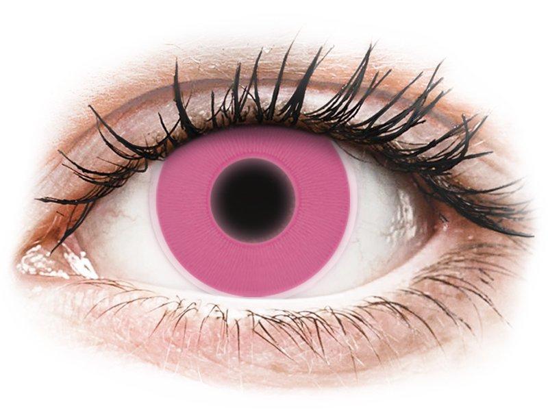 ColourVUE Crazy Glow - nedioptrické (2 čočky) Pink