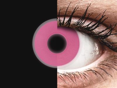 ColourVUE Crazy Glow Pink - nedioptrické (2čočky)
