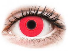 Kontaktní čočky Crazy GLOW - ColourVUE Crazy Glow Red - nedioptrické (2čočky)