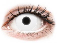 Crazy kontaktní čočky - nedioptrické - ColourVUE Crazy Glow White - nedioptrické (2čočky)