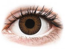Barevné kontaktní čočky - nedioptrické - TopVue Color - Brown - nedioptrické jednodenní (10 čoček)